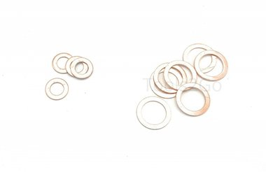 Assortimento di anelli in rame 150 parti
