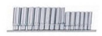 3/8 Capset lungo Profilo d'onda 15 pezzi