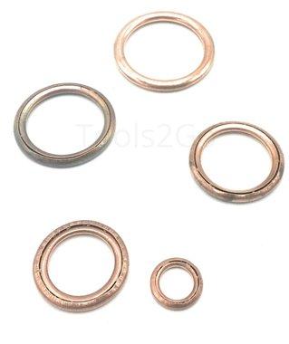 Assortimento di anelli in rame riempito 150 parti