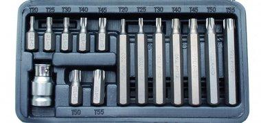 Set di punte Torx, 15 pezzi
