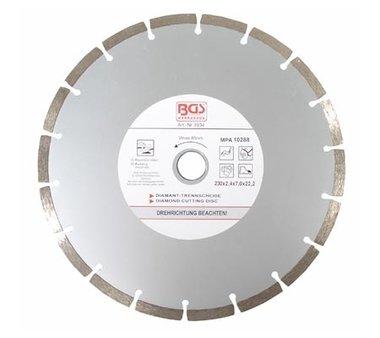 Disco diamantato a secco Taglio segmentato 230 mm