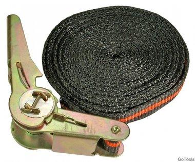 Cinturino di ancoraggio a cricchetto, lunghezza 5 m, larghezza 24 mm