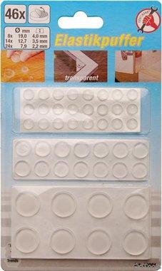 Set di tappi elastici in 46 pezzi, autoadesivo, trasparente