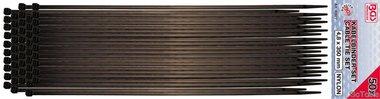 Assortimento di fascette in 50 pezzi, 4,5 x 350 mm, nero