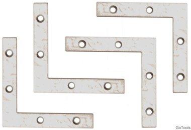 Kit staffa a 4 pezzi in acciaio, 75x75x75x12 mm