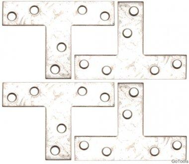 Kit staffa in acciaio in 4 pezzi, 70x50x16 mm