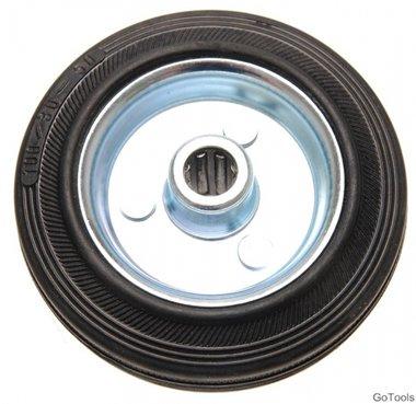 Ruota in gomma piena da 100 mm, cerchio in acciaio