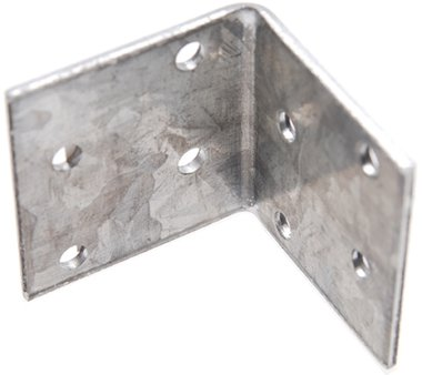 Piastra angolare, giunto 40x40x2 mm, zincata