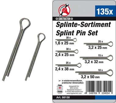 135-delige Split Pin Assortiment