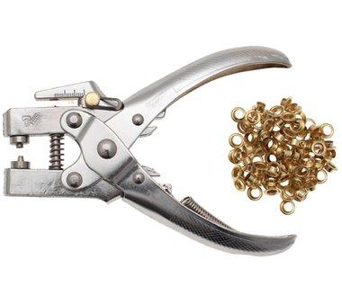 Perforeren en Oogje tangen, 5 mm, incl. Oogje assortiment, 180 mm