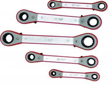 5-delige Ratchet Ring sleutel Set, 6x8 - 19x21 mm