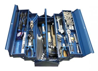 Valigetta portautensili in metallo con utensile 137 pezzi
