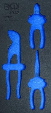 1/3 Vassoio portautensili (408x189x32 mm), vuoto, per set di pinze in