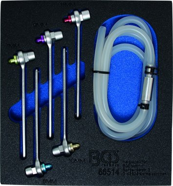 Kit chiave per lo spurgo del freno in 6 pezzi, 7-8-9-9-10-10-11 mm, 6-slg.