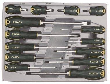 Set cacciavite Flat & Pozidriv 14 pezzi
