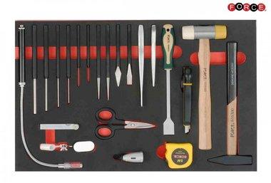 Set di martello e scalpello in schiuma 21 parti verde