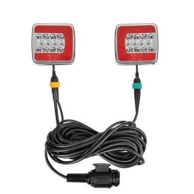 Set luci rimorchio LED 4F con magneti 7,5+2,5M cavo 13P.