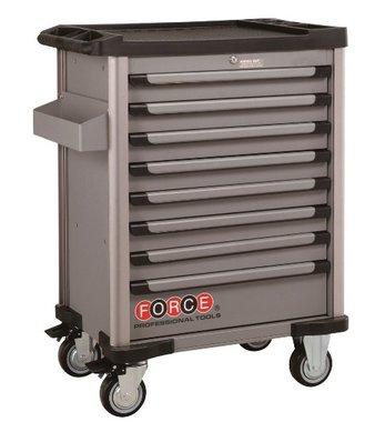 Carrelli grigi a 8 cassetti con 512 utensili