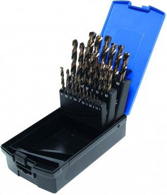 Set di foratura Twist Drill Set da 26 pezzi, HSS-G M35 Acciaio al cobalto, 1-13 mm