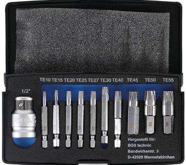 Set estrattore a vite da 11 pezzi per Torx T10-T55 danneggiato