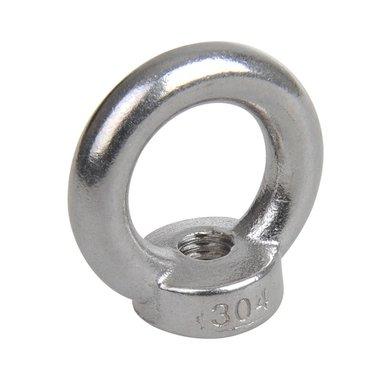 Ghiera M10, A4 in acciaio inox AISI 316
