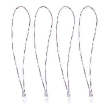 Legatore a vela con ganci in nylon, 4 pezzi in borsa, 35cm, bianco