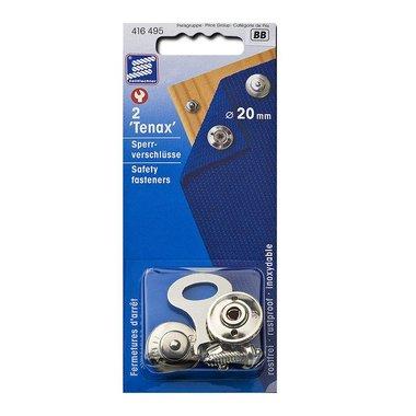 Chiusura di sicurezza Tenax, 20 mm, 2 pezzi in blister