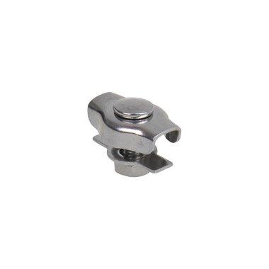 Morsetto per filo dacciaio Simplex 2mm, acciaio inox A4 AISI 316