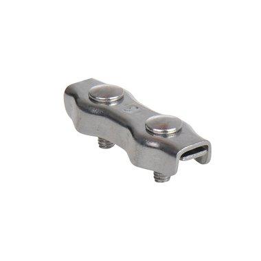 Morsetto per filo di acciaio duplex 3mm, acciaio inox A4 AISI 316