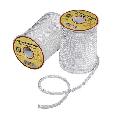 Cavo in fibra, intrecciato, 5mm, 20m su bobina, bianco, 410 daN
