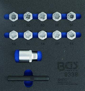 Kit di utensili per il bloccaggio delle ruote in 12 pezzi per Mercedes Benz