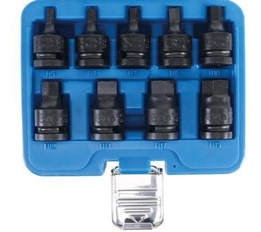set di tappi per bit di potenza 1/2 Inbus 5 - 19 mm, 9 pezzi