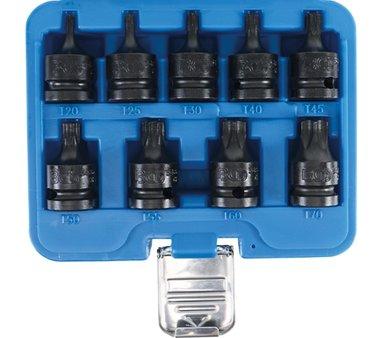 set di tappi per bit di potenza 1/2 Torx T20 - T70, 9 pezzi