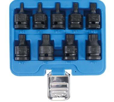 set di tappi di potenza 1/2 scanalatura XZN multi-dente multi-dente M4 - M16, 9 pezzi