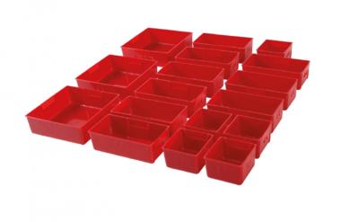 Vassoi in plastica per carrello officina 17 pezzi