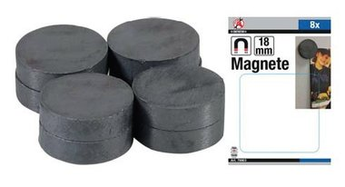 Set magnetico in ceramica Dia 18 mm 8 pz