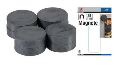 Set di magneti in ceramica Dia 25 mm 8 pz