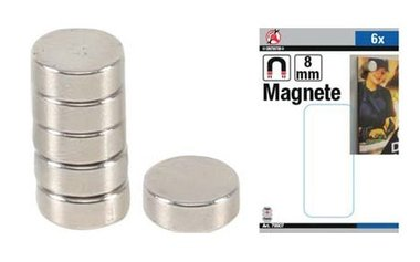 Set di magneti extra forte diametro 8 mm 6 pz