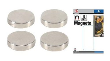 Set di magneti extra forte diametro 12 mm 4 pz