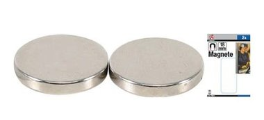 Set di magneti extra forte diametro 18 mm 2 pz