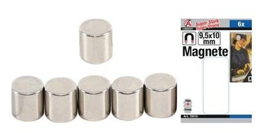 Set di magneti extra forte diametro 9,5 mm 6 pz