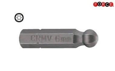 Punta a testa inbus 1/4  25mmL 2,5mmL 2,5mm