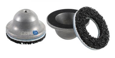 Smerigliatrice per mozzi ruota campana in alluminio con nucleo di acciaio Ø interno 80 mm