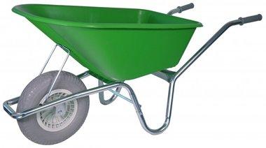 Carriola da giardino telaio zincato 100 litri