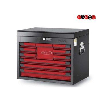 Petto superiore a 10 cassetti rosso e nero lucido (vernice lucida)