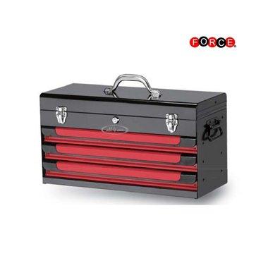 Petto superiore a 3 cassetti rosso e nero lucido (vernice lucida)