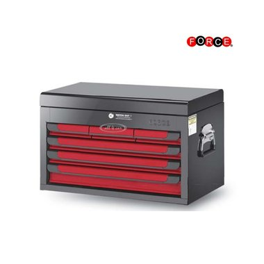Cassettone a 6 cassetti rosso e nero lucido (vernice lucida)