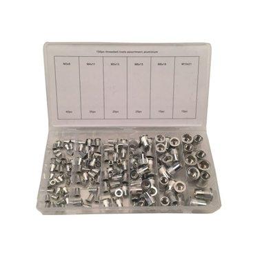 Assortimento di rivetti ciechi Assortimento di rivetti in alluminio 150 pezzi
