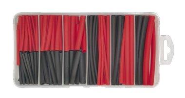 Tubo termoretraibile nero/rosso