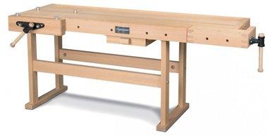Banco da lavoro professionale in legno - 2120x790 mm